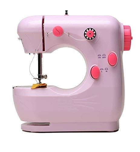 Naaimachines Mini Naaimachine Beginners 2 Speed ​​Embroidery Stitching Heavy Duty Quilten Machine gemakkelijk gebruik ZHQHYQHHX (Color : Pink, Size : 1)