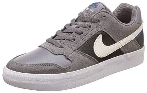 Nike SB Delta Vulc, Chaussures de Skateboard Mixte Adulte, Multicolore (Gunsmoke/Phantom/Blue Force 009), 45 EU