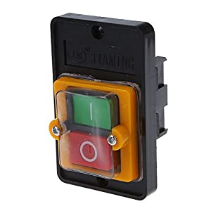 SODIAL(R) SODIAL(R) AC 220 / 380V EN Resistente al agua Interruptor de Boton KAO-5