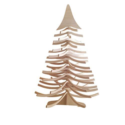 Deko As Christmas Tree, Arbre de Noël en Bois (Taille: 120x80 cm, Design Intemporel, Peut être installé de Deux manières différentes, Facile à Mettre en Place), Couleur: Natur