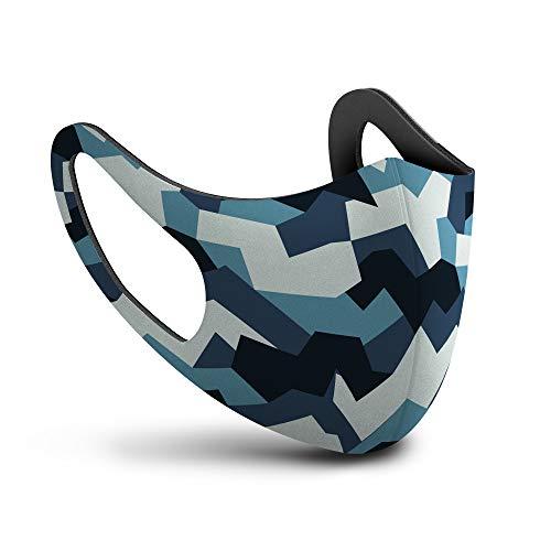 SPHERA mascherina lavabile adulto camouflage blu Made in Italy mascherine lavabili...