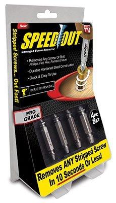 Ontel SpeedOut – Juego de extractor de tornillos dañados y extractor de pernos