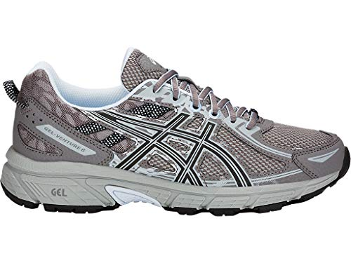 ASICS Women's Gel-Venture 6 Running Shoes, 8.5M, Carbon/Soft Sky