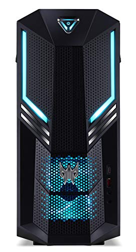 Predator Orion 3000 (PO3-600) Gaming - Ordenador de sobremesa (Intel Core i5-9400F, 16 GB de RAM, 256 GB PCIe SSD + 1000 GB HDD, NVIDIA GeForce GTX 1660 Ti (6 GB GDDR6), Windows 10 Home) Negro/Azul