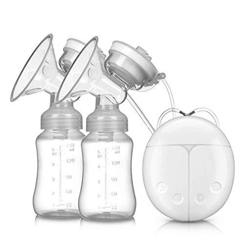 Kalavika - Estrattore di latte materno doppio, tiralatte elettrico portatile, ricarica USB, BPA-Free e 100% grado di cibo, molteplici modalità e livelli di aspirazione bianco