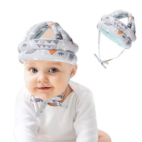 LdawyDE Casco de Protección para Bebé Infantil Protector de Cabeza Casco de Seguridad del Bebé Niño Sombrero de Protección Adjustable Arnés Gorra de Protección