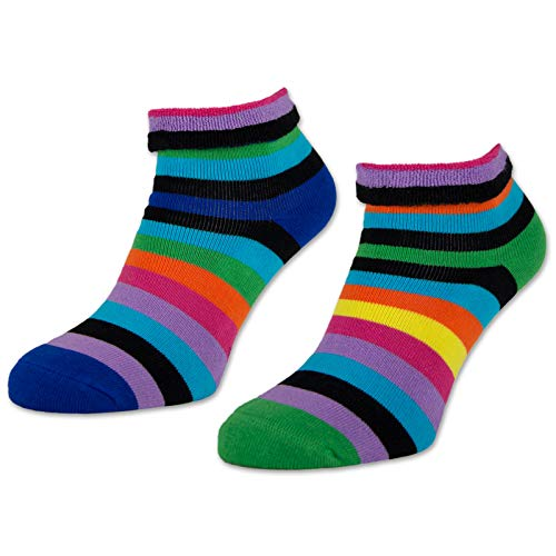 sockenkauf24 2/4 / 6 Paar Damen THERMO Socken Innenfrottee Umschlag-Socken Bunte Ringel Damensocken - 12790 (Farbmix - 35-38, 2 Paar)