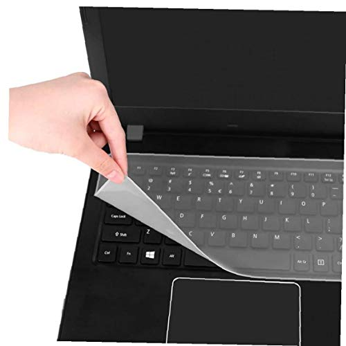 Keyboard Protector Cover Universal Keyboard Film Transparent Durable Silicone Keyboard Protector Film Compatible Lenovo Dell Laptop