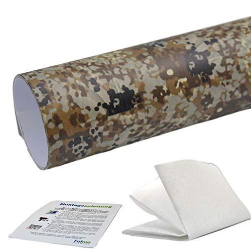 35,07€/m² Auto Folie Camouflage Tarnfolie Sticker Bomb Car Wrap Folie Streifen + ultrafeines Microfasertuch, Selbstkebefolie mit Luftkanälen (30cm x 150cm, Camo 12)