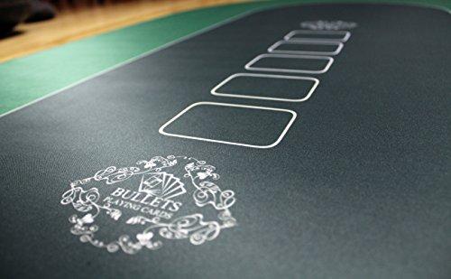 Bullets Playing Cards Profi Pokermatte in 90 x 180cm Eigenen Pokertisch – Deluxe Pokertuch – Pokerteppich – Pokertischauflage – Ideal als Geschenk - 6