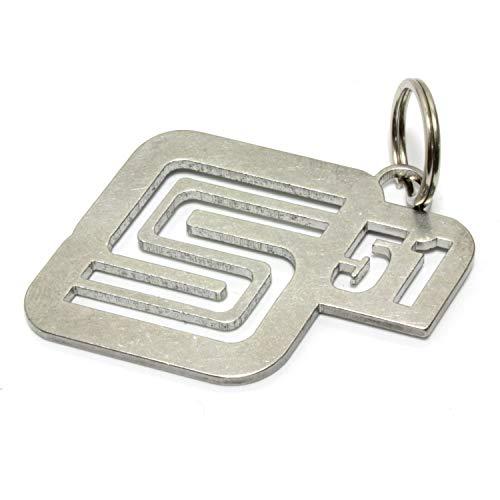 S51 Schlüsselanhänger Edelstahl smsn Ostblock Moped ifa Tuning Dub