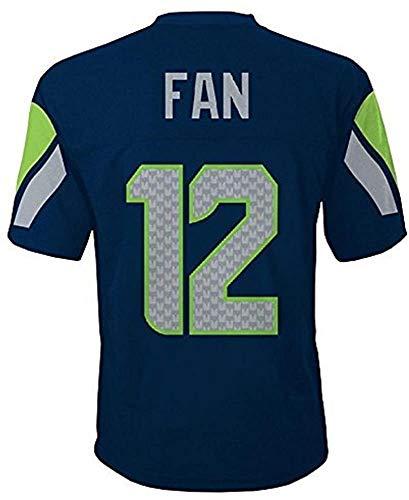 Outerstuff Seattle Seahawks 12th Fan NFL Youth Mid-Tier Team Jersey Navy (Youth Medium 10/12)