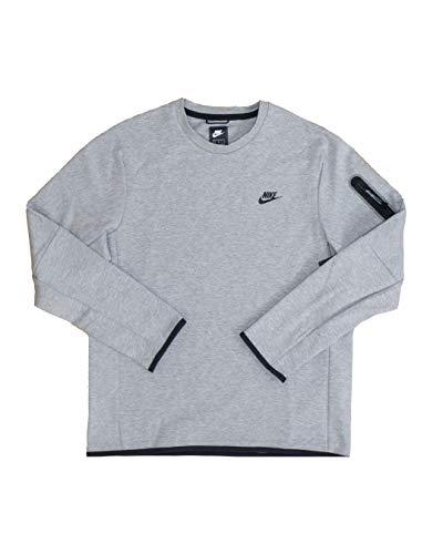 Nike Tech Pantaloni da Ginnastica, Dk Grey Heather/Black, Small Uomo