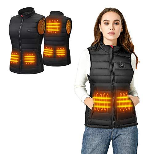 Zhovee Heated Vest for Women USB Rechargeable Electric Heated Coat Waterproof Size Adjustable Winter...