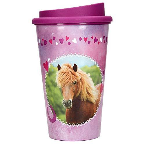 Depesche 6011 Trinkbecher To Go Horses Dreams, ca. 350 ml