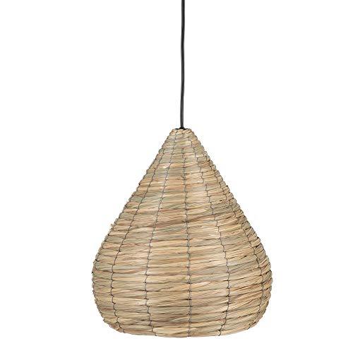 Lámpara de techo colgante exótico fibra natural beige, de