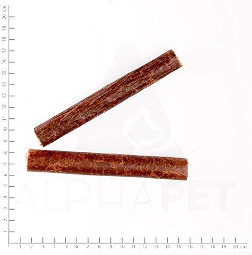 Wildes Land | anatre di carne di sgombro | 28 pezzi | snack da masticare per cani | Alta percentuale di carne (95%) | naturalmente ricompensa | senza cereali | carne fresca e delicatamente essiccata