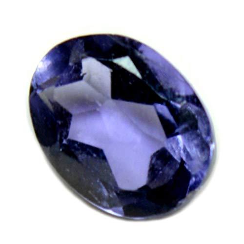 Gemsyogi 7X5 MM Tamaño Original Iolita Piedra Azul Forma Oval facetada Venta al por mayor Suelta Gema para Astrología