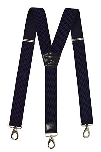 Olata Tirantes 'Y-Forma' Extra Fuerte (40mm) con Mosquetón Clips, Totalmente Ajustable. Azul Marino