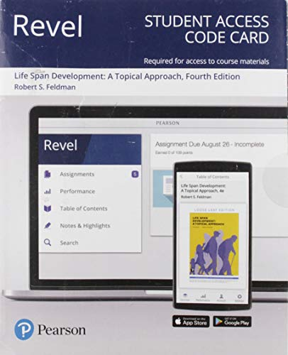 Revel for Life Span Development: A Topical Approach -- Access Card (4th Edition)
