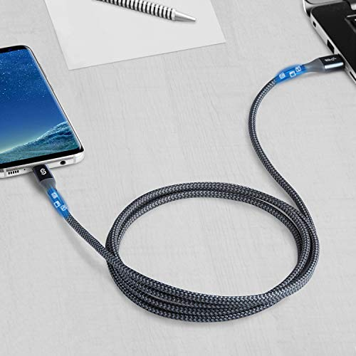 Syncwire USB C Kabel auf USB 3.0 Ladekabel [2 Stück] 1, 8m Schnellladekabel geeignet für Typ C Geräte, Samsung Galaxy S10/S9/S8+, Note 10/9/8, Huawei P30/P20 Pro, HTC, Sony, Lumia, Tablet und mehr