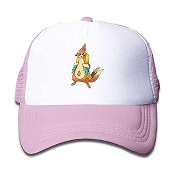 MWHprint Youth Adjustable Mesh Hats Baseball Trucker Cap for Boys and Girls Pokemon Floatzel Pink