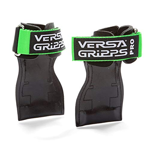 Versa Gripps PRO パワーグリップ 筋力トレーニング・リストラップ made in the USA (Green/緑, SM:15.6-18.0cm)