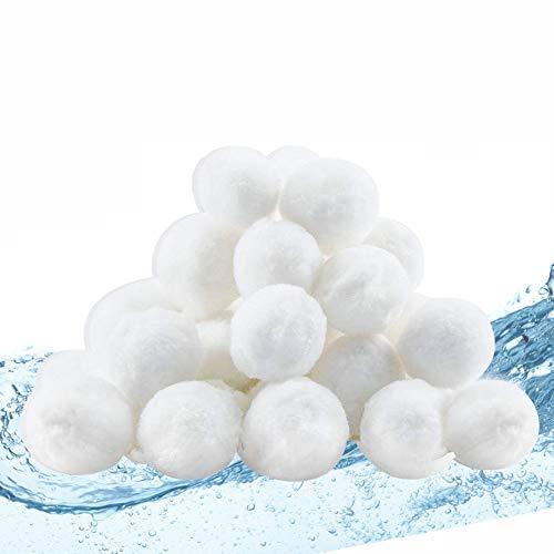 Outinhao Filter Balls, Flowclear Polysphere, Filtersand, filterbälle für sandfilteranlagen Schwimmbad 700g