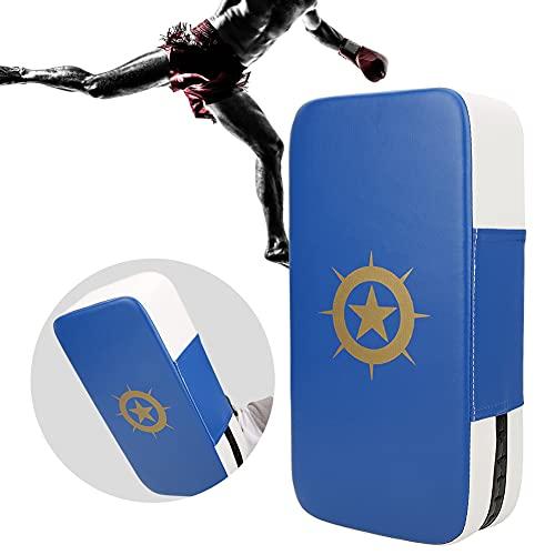 Haowecib Taekwondo Foot Target, Target Pad, Leggero Taekwondo Target, PU per Boxe Taekwondo(Blu e Bianco)