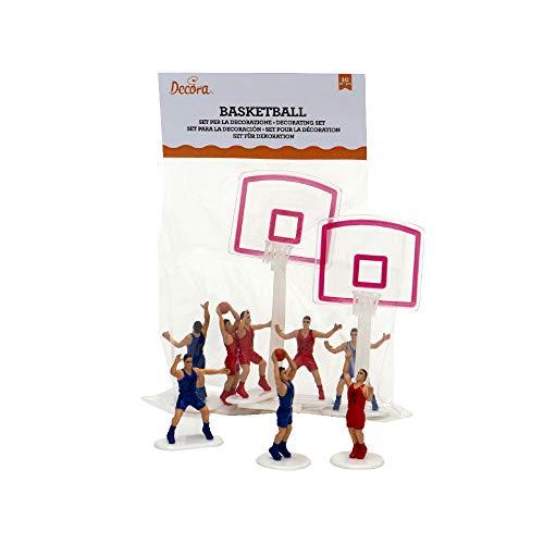 Decora 0816015 Set 10 Pz Basket 8 Giocatori 2 Canestri