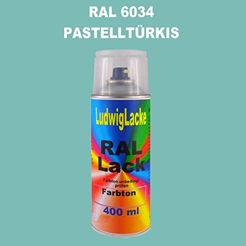 RAL 6034 PastellTürkis Seidenmatt 400 ml 1K Spray