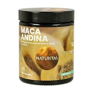 Naturitas Maca Andina | 120 capsulas | Mejora las relaciones de pareja | Capsula vegetal | Vigorizante | Para energía y vitalidad | Mejor rendimiento sexual | Equilibrio hormonal.