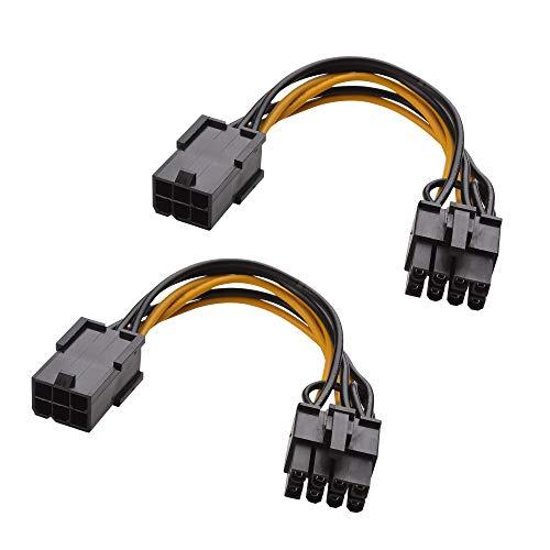 『Cable Matters 6ピン PCIe 8ピン PCIe 変換電源ケーブル ビデオグラフィックカードに対応 2本セット 4 インチ』のトップ画像