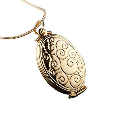 Kit da tè ovale con cornice portafoto e medaglione con 4 scomparti, ideale come regalo per la festa della mamma, beige., E