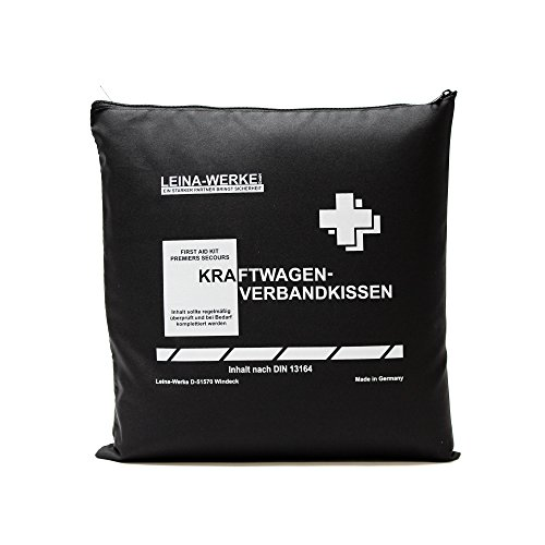 Leina 11202 Eerste Hulp Kussen voor Autos Standaard, Zwart/Wit