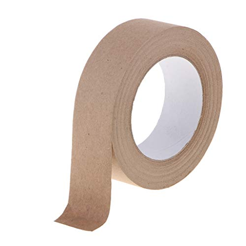 B Baosity 50m Selbstklebendes Washi Tape Masking Tape Deko Klebeband Kraftpapier Klebebänder DIY Scrapbook - Braun, 36 mm