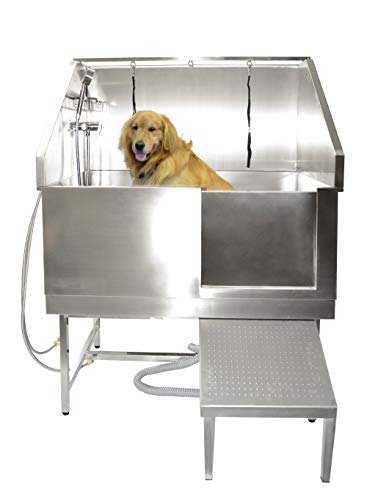 SHELANDY Stainless Steel Professional pet Dog Grooming Bath tub