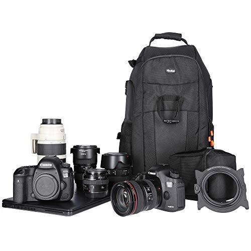 Rollei Fotoliner Fotorucksack L (großer Kamerarucksack (Daypack) mit Schnellzugriff, Laptop-Fach,...
