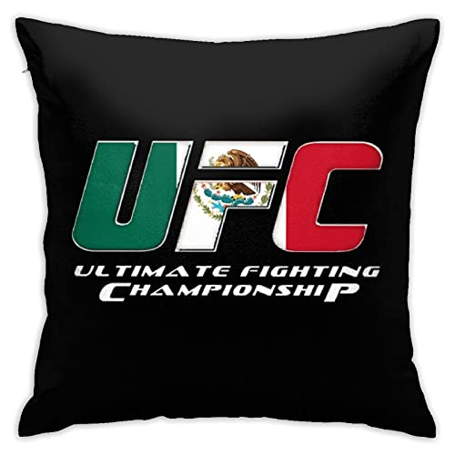 Gogad Fundas de Cojines UFC Mexico Funda de cojín para Coche Interior sofá decoración de Dormitorio Funda de Almohada para sofá 45 cm × 45 cm
