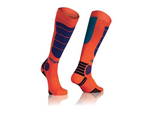 ACERBIS 0021633.243.067.MX Impacto calcetines, color azul y naranja, talla única