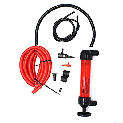 MOTONG Hand Siphon Pump Manual Plastic Sucker Pump With Two - 50 x ½ Inch Hoses For Gas, Oil, Air, & Other Fluids in Emergency case