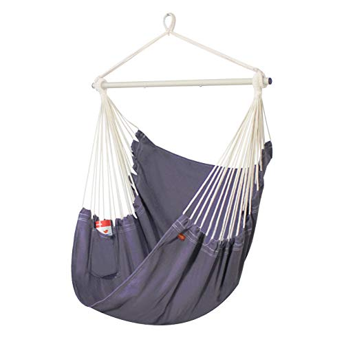 PIRNY Hammock Chair Hanging Swing with Side Pocket-Max Capacity Up to 400 LBS,Comfortable and...