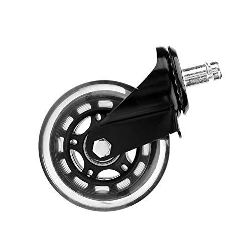 EVTSCAN, las últimas ruedas giratorias para sillas de oficina, ruedas de repuesto para sillas de oficina, ruedas silenciosas universales, 5 piezas(electrocoating with circlip)