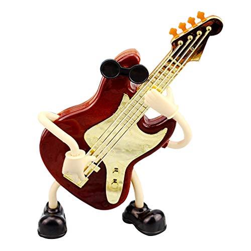 BESPORTBLE Caja de Música Guitarra Estatuilla Escritorio Instrumento Musical Ornamento Melodía Juguete para Estudiantes Niños