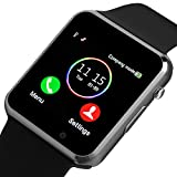 Smart Watch, Bluetooth Smartwatch Android iOS Phone Compatible Unlocked Watch Phone with with SIM Card Slot Camera Compatible Samsung Touch Screen Sport Wrist Watch Phone for Men Women