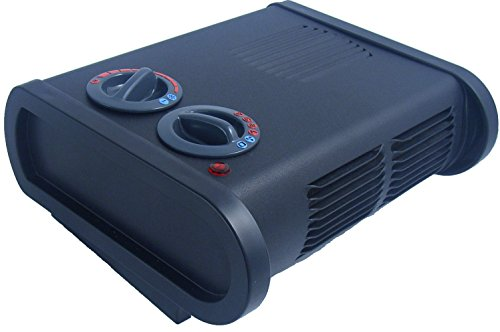 Caframo True North Heater. Low Profile, Quiet, Powerful Heater for Work and Home. Black
