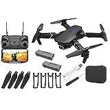 drone GPS E88 Pro adulti pieghevole video in tempo reale drone aereo RC Quadcopter con 2 batterie nero