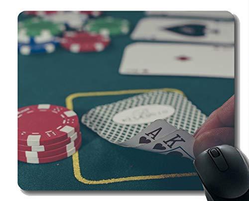 La Mejor Idea de Regalo Alfombrilla de ratón, Tarjeta de póker de Goma Mousepad Bordes cosidos
