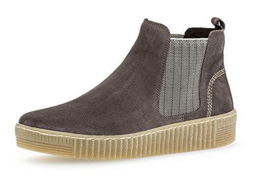 Gabor Damen Chelsea Boots 33.731, Frauen Stiefelette,Stiefel,Halbstiefel,Bootie,Schlupfstiefel,flach,Wallaby/beige(natu,39 EU / 6 UK