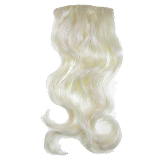 VANESSA GREY One Piece Clip In Hair Extensions Extension a Clip Cheveux Une Pièce Demi Perruque Postiche Extensions De Cheveux Blonde Platine